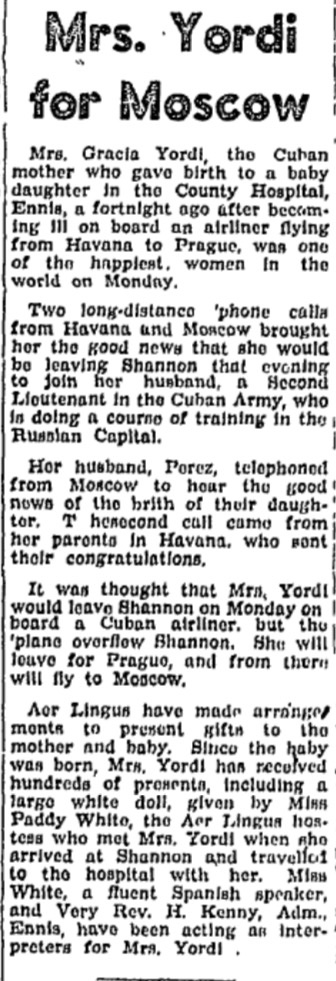 Close up of the article. I wonder whether the Ennis Cuban Missile Crisis Baby is now?