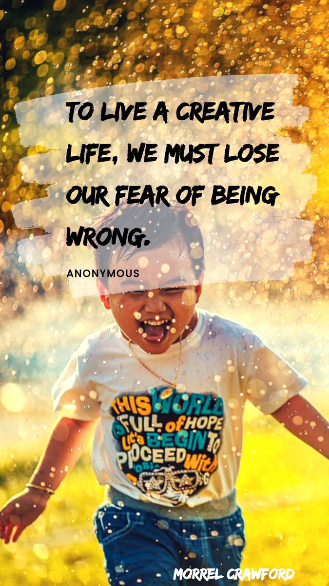 Quote of the Day:  To live a creative life, we must lose our fear of being wrong.  - Anonymous  #QuoteOfTheDay #Success #Goals #Entrepreneur #Entrepreneurship #Gains #Mindset #Business #NewRich #Motivation #PositiveVibes #NoFear #FailForward #Learning #Monday #MondayMotivation https://t.co/LUDKDatDGY