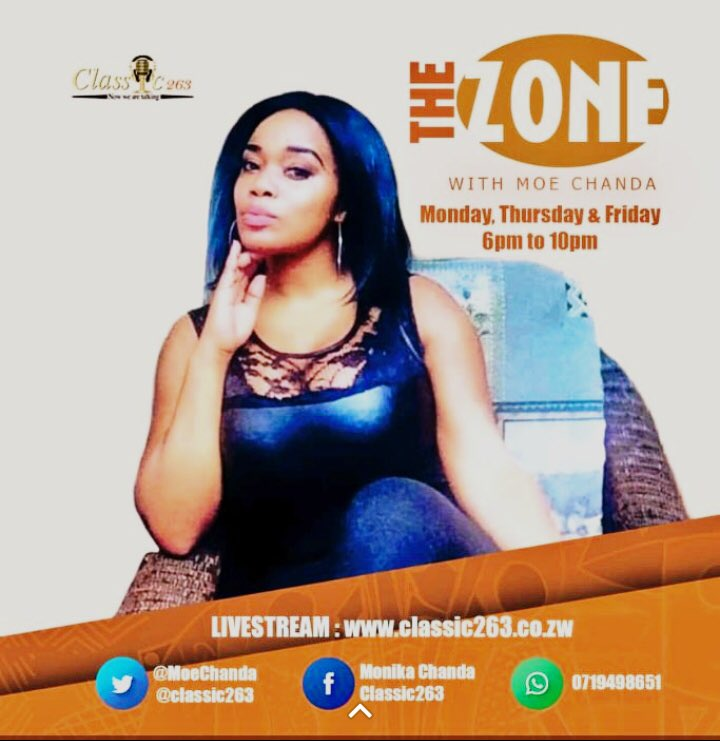 test Twitter Media - Make a date with @MoeChanda as she takes on a different slot ,chill with her on #TheZone Mondays , Thursdays & Fridays  6 to 10pm (CAT)  LIVESTREAM: https://t.co/Xp46Ct5hFQ  WhatsApp: 0719498651 #NowWeAreTalking https://t.co/XR1FRD2QfN