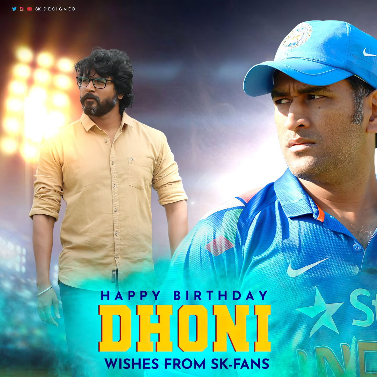 Here It Is The Special Design For #MSDhoni Birthday From #Prince @Siva_Kartikeyan Fans !! 🔥   Wish You Happy Birthday @msdhoni On Behalf All #Prince @Siva_Kartikeyan Anna Fans  @DHONIism @msdfansofficial @TrendsDhoni   #HBDDhoni  #HappyBirthdayDhoni  #HBDDhoniFromSKFans https://t.co/Fa2PyLiJV3