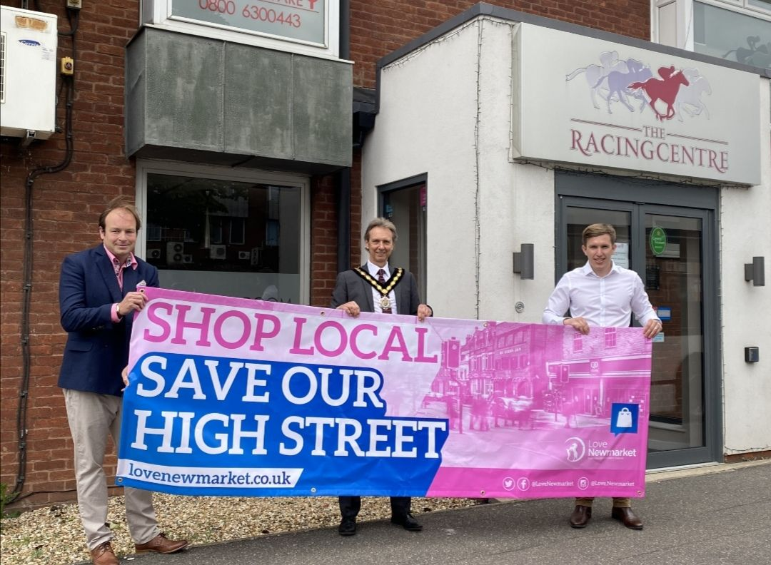 Today our BID Manager and the Newmarket Major are visiting businesses across the town, celebrating our Save The High Street campaign.  If you see them be sure to say hello  #SaveTheHighStreet #LoveNewmarket #NewmarketBID #Newmarket #Suffolk<br>http://pic.twitter.com/MugxnPfMZG