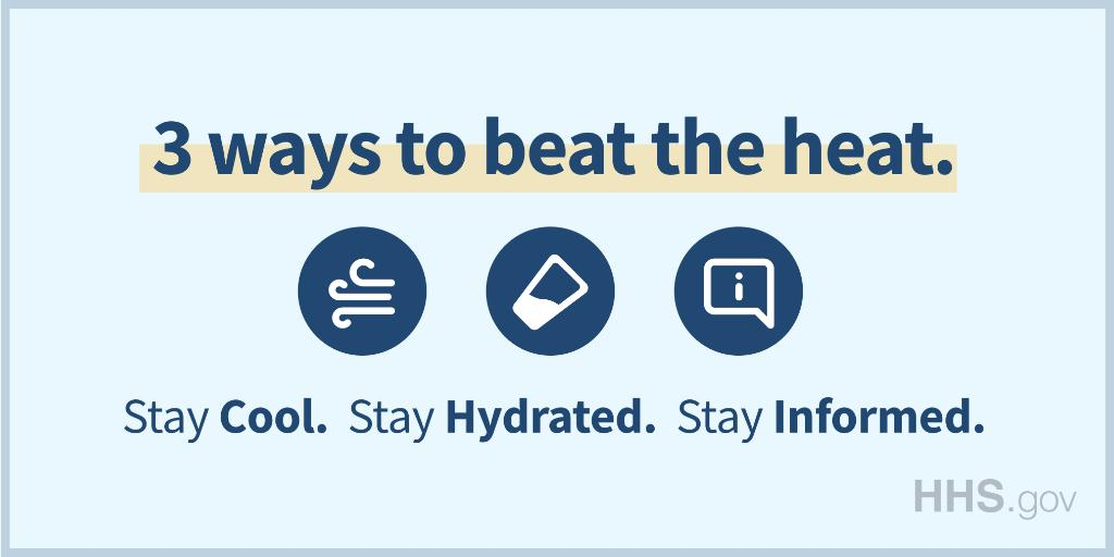 Don't be 🥵 during #ExtremeHeat. The best way to stay safe is by staying cool, hydrated, and informed. Learn more: bit.ly/31QyOeG #MondayMotivation #MondayThoughts