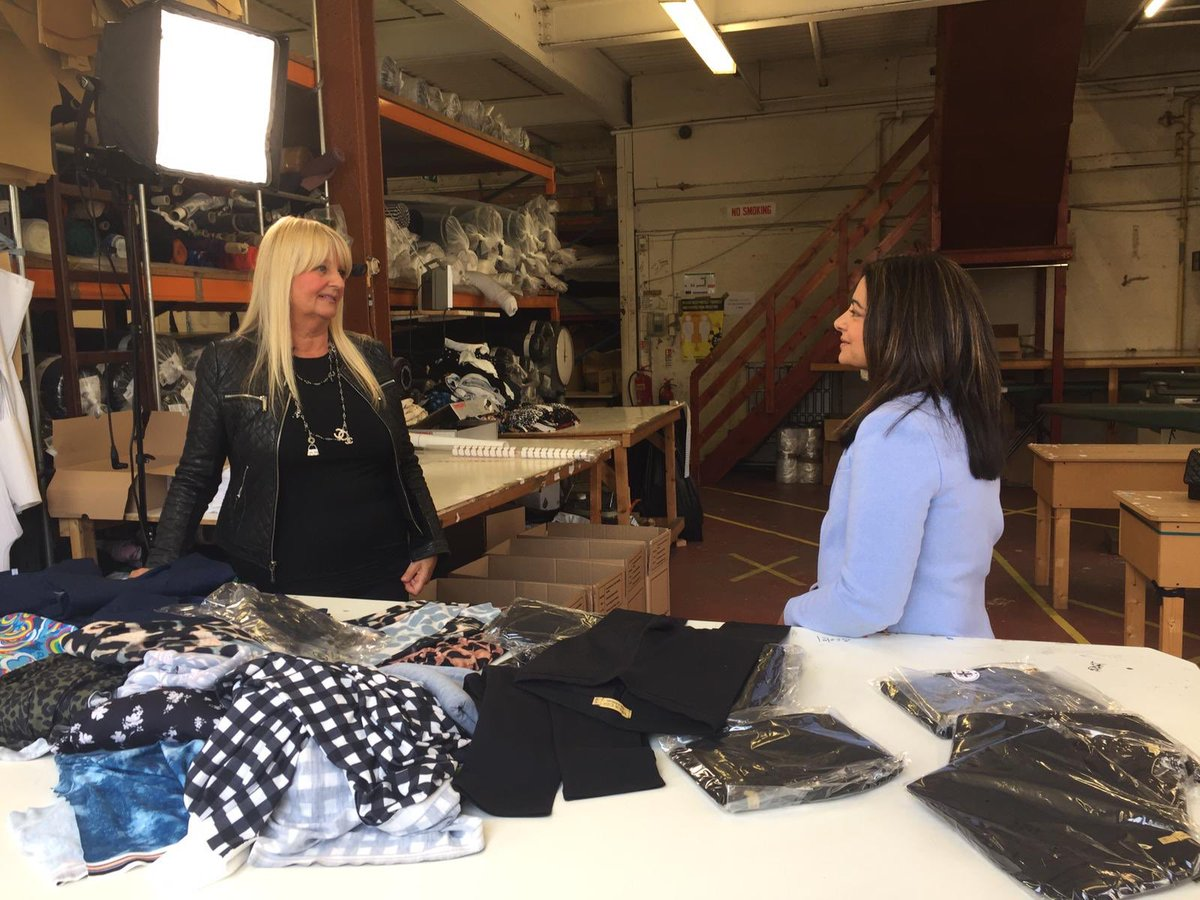 """""""We can't compete with companies selling leggings for £3. Ours cost £30. We pay our workers a proper wage. My message to consumers - think about who is making the clothes you wear and and at what cost."""" @Stylishchick runs an ethical clothing company in Leicester. More on #c4news"""
