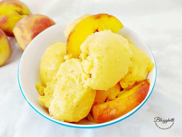 Cool off with this homemade Fresh Peach Sorbet easily made with just three ingredients. It's dairy-free and refined sugar-free. #peach #sorbet #icecream #homemade #summerdessertweek #3ingredients #easy #recipe https://t.co/ZDqRtr3CRY https://t.co/Qb44Dn4nhs