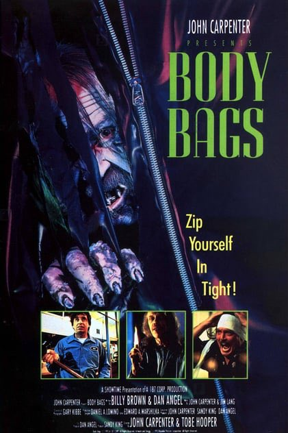 Bonkers John Carpenter (with Tobe Hooper) 90's anthology with John himself as our deranged host   A bevy of cameos and goofy atmosphere make this feel like a lost Joe Dante film. Fun with standout scenes, a highlight being manic Mark Hamill and sleazy Wes Craven   #moviereview <br>http://pic.twitter.com/nGB7uO33hD