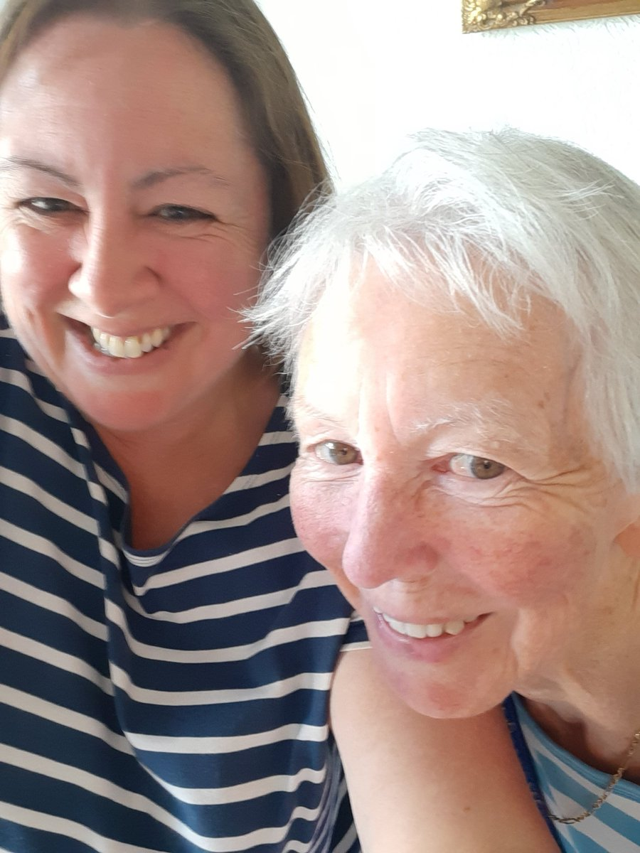 Joined this lovely lady's bubble today, after a  l o n g  4 months. There were big hugs, some tears and a lot of laughter. #Motheranddaughter #togetheragain #happydays pic.twitter.com/c8AXoiXogL