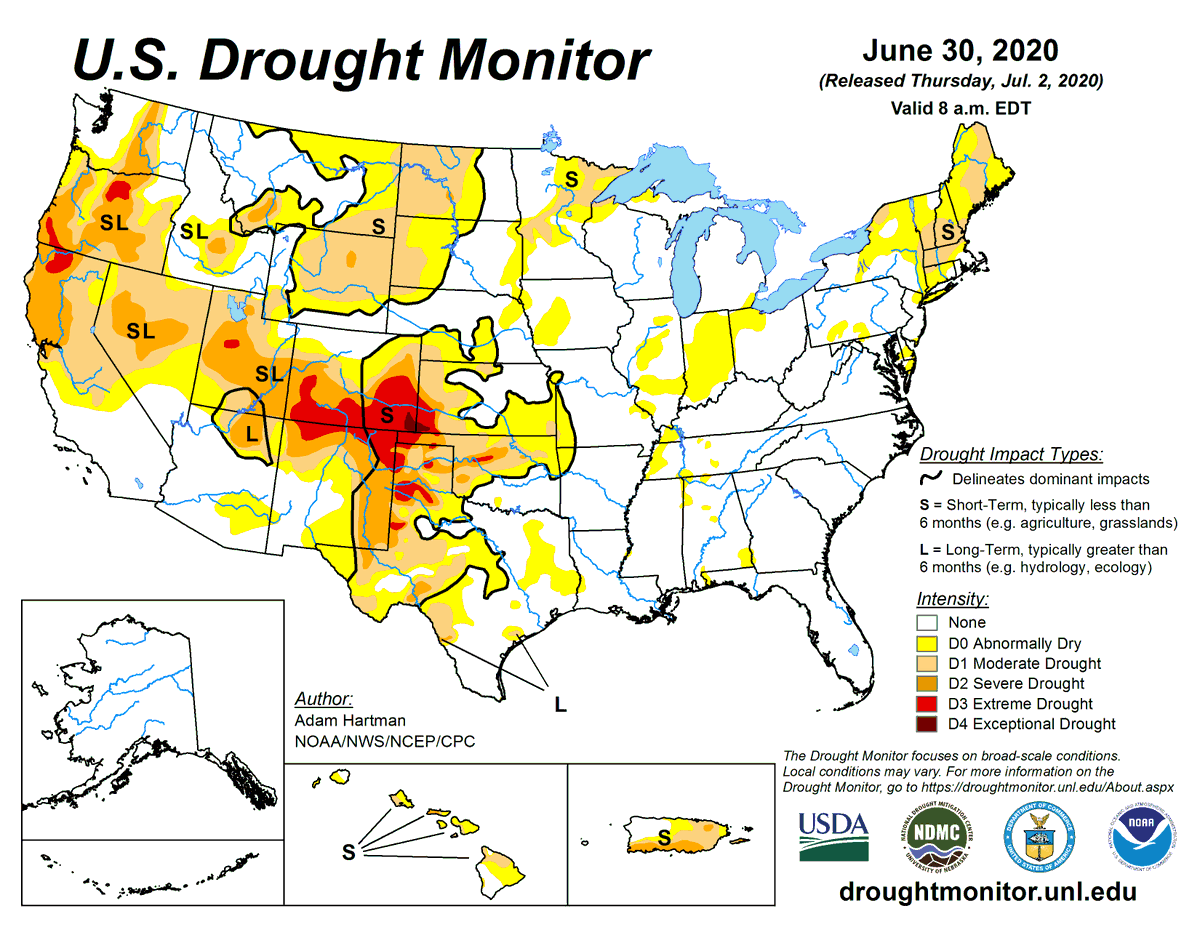3/ @usda_oce Wx: However, hardest-hit #drought areas encompassing parts of a five-state region (southeastern #Colorado, southwestern #Kansas, western #Oklahoma, northern #Texas, and northeastern #NewMexico) remain mostly dry. https://t.co/XyfakwDOWs