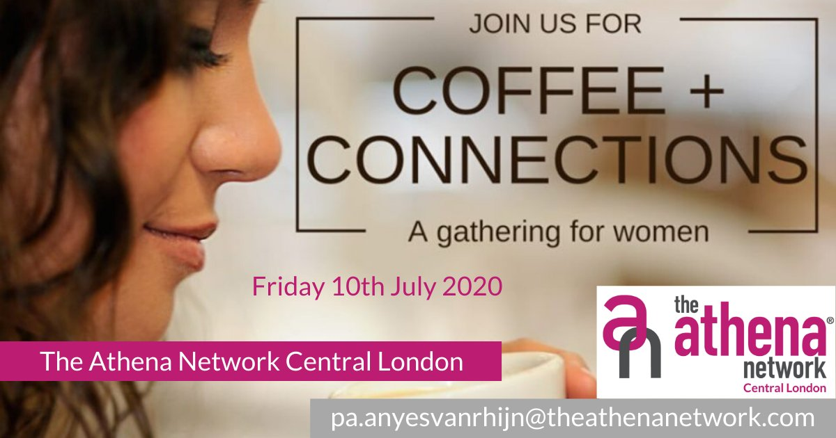 Our next Cappuccino Connections is this Friday, 10th July.  This is an informal networking meeting held from 10am to 12pm, virtually!  Why not join us and experience what networking can do for you and your business?  Contact me to book.  #athenacentrallondon #magentatribe https://t.co/9bPtUaPasF
