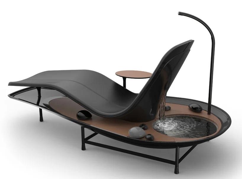 Сасанк Гопинатан - дизайнер из студии Karimeen Inc. презентовал шезлонг «Dhyan Chaise» для дзен-отдыха.   Шезлонг предусматривает 3 режима на выбор — стандартный, с прудом и с садом.  #design #дизайн #мебель-pic.twitter.com/TjnsR08k7M