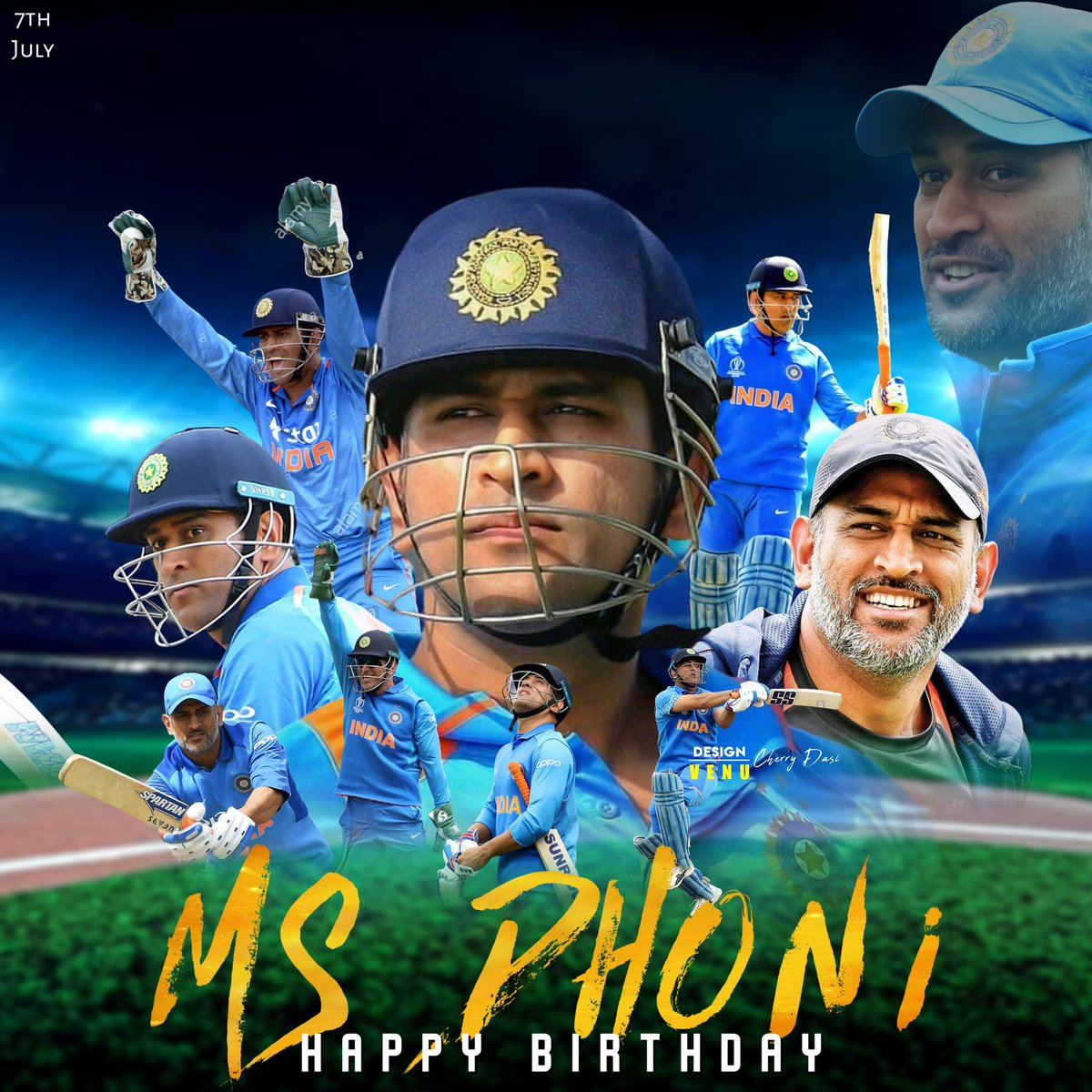 Here is My Design Wish you Very Happy Birthday @msdhoni Captain 🤩❤️! @VijayDFans @SomaSar37104149 #HappyBirthdayDhoni #VenuCherryDasiEdits @soumyaaa_vd_fan @TrendsDhoni @TheDhoniEra  @DHONIism  @DhoniFansEdits  @msdfansofficial @ https://t.co/ayFSdEBKWD