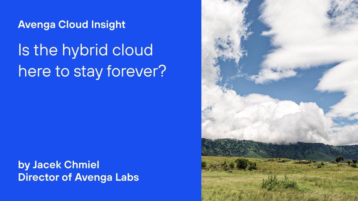 """Immer mehr Unternehmen kombinieren die """"Public #Cloud"""" mit eigenen Lösungen zur #HybridCloud. @jacekchmiel (Director #AvengaLabs) über den Stand der #CloudAdoption und ihren Einfluss auf die #DigitalTransformation https://t.co/2AcVdZCNm9 https://t.co/gtGJDzu9De"""