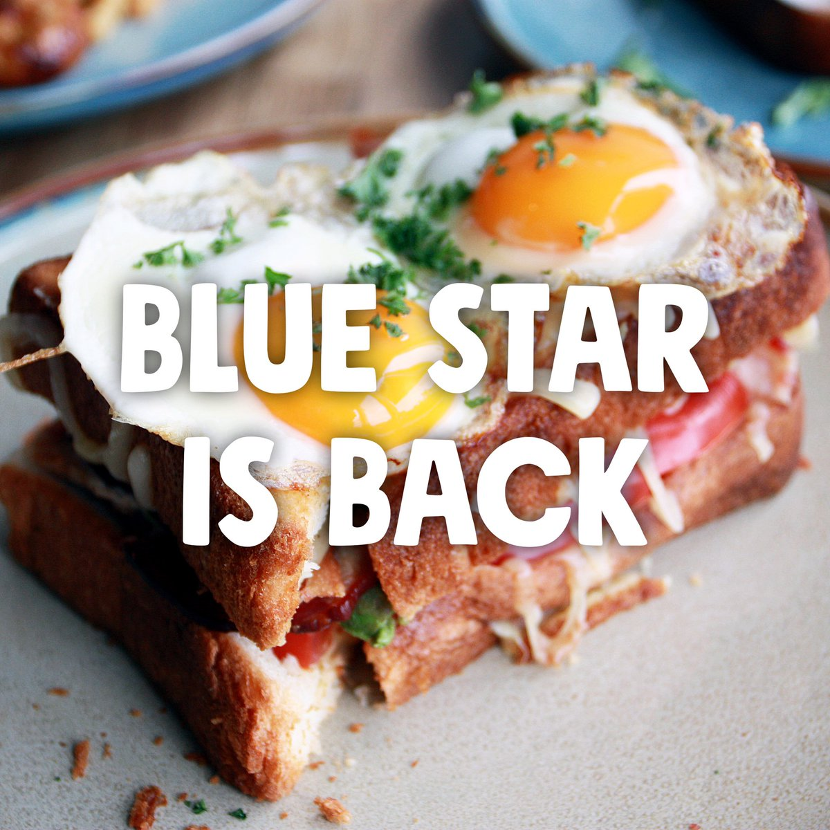 Blue Star is BACK! 💙  We reopen at 8am for sitdown service 7 days a week! Some new menu items and familiar faces - we can't wait to see you! #yyc #yycreopen https://t.co/b5tu03SnBu