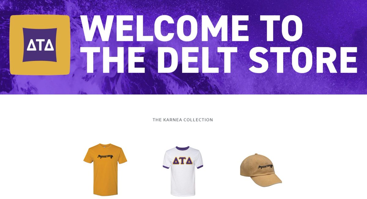 Checking out the new @DeltaTauDelta store and I wanna buy everything. #ProudAlum #RahDelt https://t.co/p3eRHI0SbH