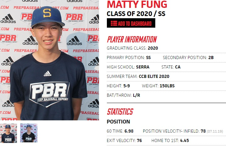 Like many good players, SS/2B Matty Fung is now looking for a new school after the ending of the Boise State program. @PBR_California @PBR_Uncommitted @Serra_Baseball @CalClubBaseball @prepbaseball https://t.co/uz9we8TosX