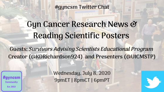 Join/Share: #gyncsm chat Wed, July 8th at 9pmET gyncsm.blogspot.com