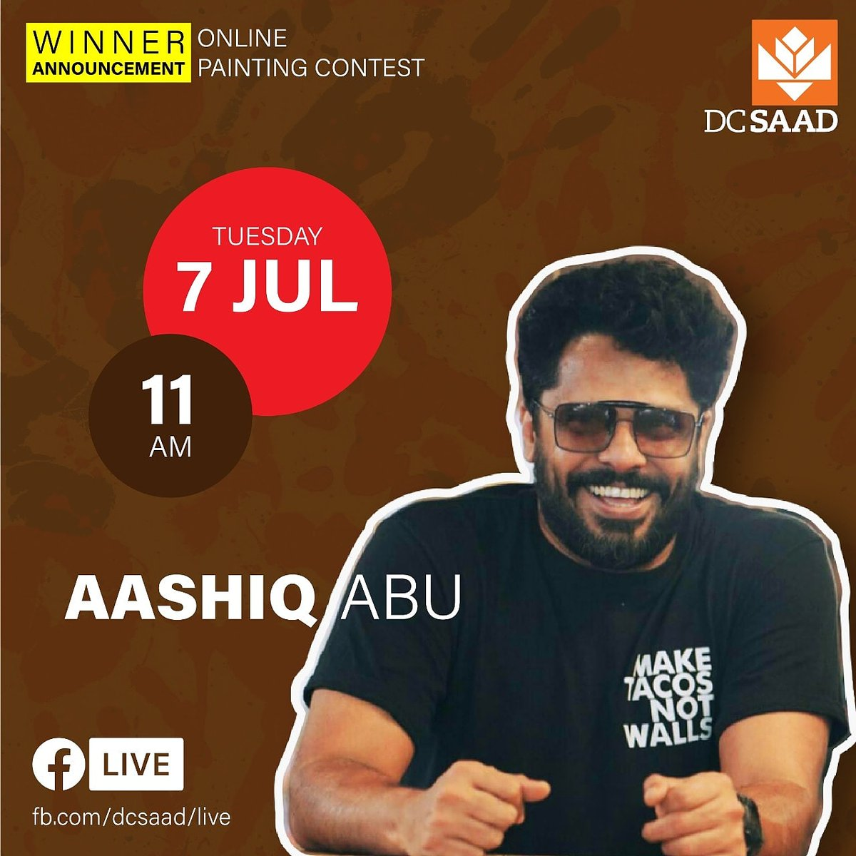 We are excited to have renowned film-maker *Aashiq Abu* to announce the winners for the ONLINE PAINTING CONTEST.  Follow our Page: https://t.co/XcSXbFv4Bx  #dcsmat #dcsaad #dcschool #aashiqabu #movies #mollywood #contest #painting #barch #interiordesign #malayalam #keralaart #art https://t.co/xut2B3LUAy