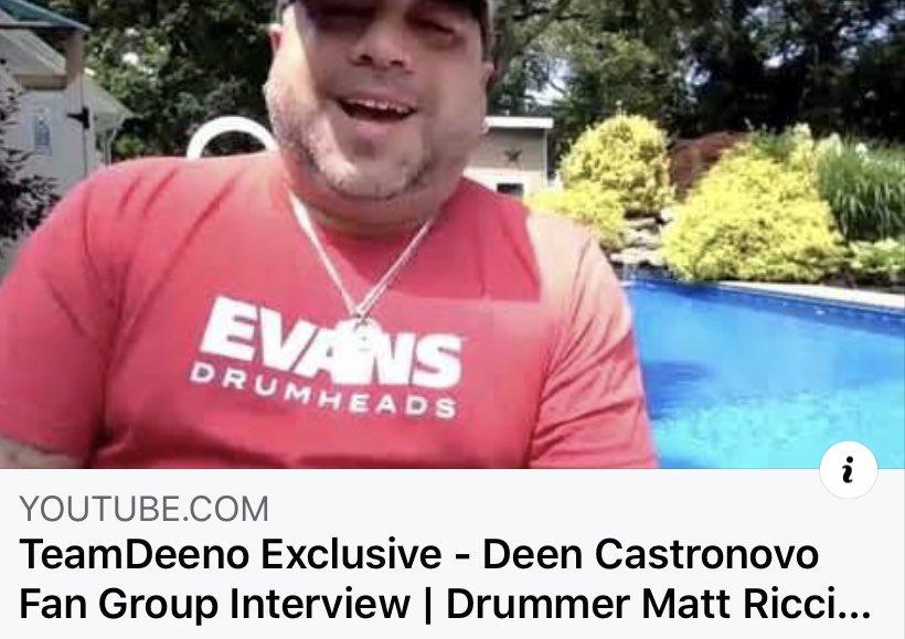 New #TeamDeeno Interview with @bonjourneynyc Drummer, @matt31205 ! Matt talks about his long standing friendship with @DeenTheDrummer#DeenCastronovo #EvansDrumheads #AlienEars #RimRiserUSA #DWDrums #Zildjian #Vater #Drummers https://youtu.be/U8SgmLyltnUpic.twitter.com/arz4PsxKTS