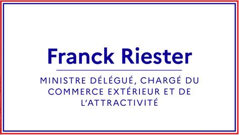 #Gouvernement   @franckriester est nommé Ministre délégué auprès du Ministre de l'Europe et des Affaires étrangères, chargé du Commerce extérieur et de l'Attractivité. https://t.co/rT0ZQQ7rnr