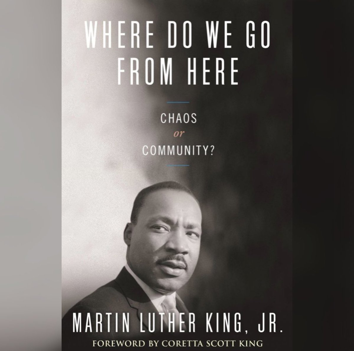 Chaos or Community? Humanity determines where we go from here. Let's choose community. Read #MLK's 'Where Do We Go From Here: Chaos or Community?' for more on the HOW. Link to purchase: king-center-bookstore.myshopify.com