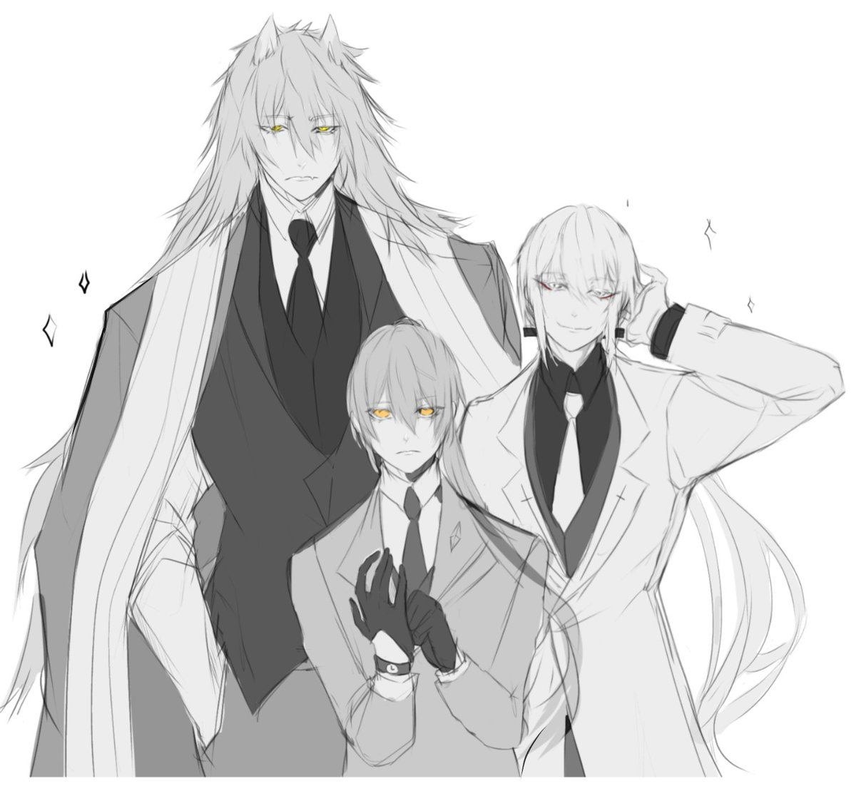 Was inspired by @/mail_0111's art of them in suits and  yes Karaka didn't return from the toilet I'm sorry- #tower_of_god<br>http://pic.twitter.com/TlY9fAL35k