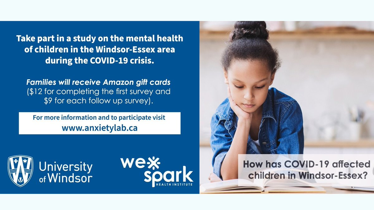 test Twitter Media - How has #COVID19 affected children in Windsor-Essex?   Researchers @UWindsor in partnership with @wesparkhealth are interested in hearing from you.   #children #survey #windsoressex #yqg #mentalhealth #Amazongiftcards https://t.co/JLgBhGOQyg