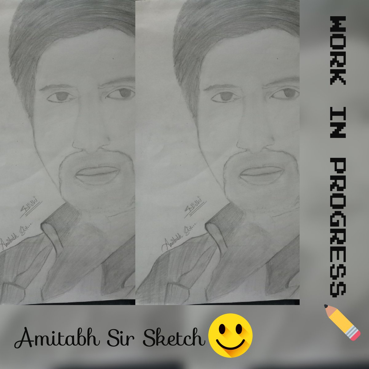 Sketch @SrBachchan  👩‍🎨👩‍🎨  #creative #artist #art_we_inspire #galleryart #artistic_share #arts #simple #artwork #art #prilaga  #ArtLovers  #sketching #sketch #sketched #sketchers #sketchlife #sketches #sketch_daily #sketchaday  #sketcher #AmitabhBachchan #bigb https://t.co/UptKFZGWKM