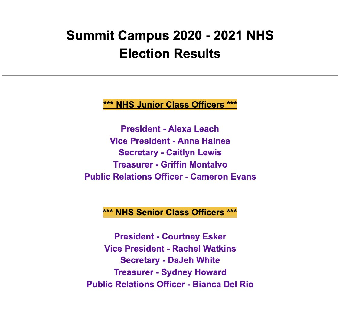 Congratulations to the 2020-2021 RHS National Honor Society Officers @ReynSchools Summit @Reyn_eSTEM @RHSEncore & Livingston @RHS_HS2 @RHS_BELL Campuses! We can't wait to lead + serve in our community! #ReynProud #NHS #NationalHonorSociety Let's Go Raiders!!! 💜💛💜💜 https://t.co/mOna1el7NZ