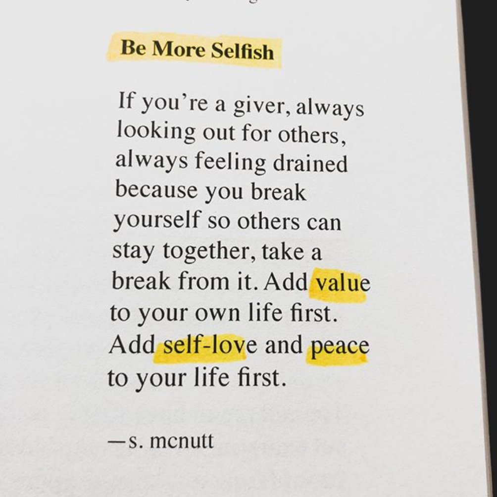 "Be More !!! ""Loving this from @sylvestermcnutt new book, Care Package: A Path To Deep Healing. Now available on Amazon. Be sure to follow @sylvestermcnutt for more writings like this!"" Reposting @thegoodquote: pic.twitter.com/546HHzTw0n"