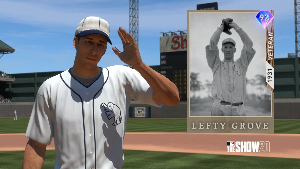 5th Inning Program Lefty Grove available TODAY around noon PT. Get MLB The Show 20 Today: Play.st/MLBTS20 #TheShow20 #WelcomeToTheShow #TheShow #MLBTheShow20 #MLBTheShow