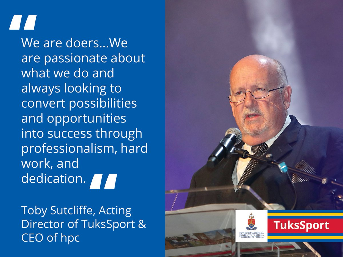 "#TuksSport: MONDAY MOTIVATION  💬 ""We are doers...always looking to convert possibilities and opportunities into success through professionalism, hard work, and dedication.""  — Toby Sutcliffe, Acting Director of TuksSport & CEO of hpc  🤝 TuksSport is sponsored by @BestmedScheme https://t.co/XayaEoXJEK"