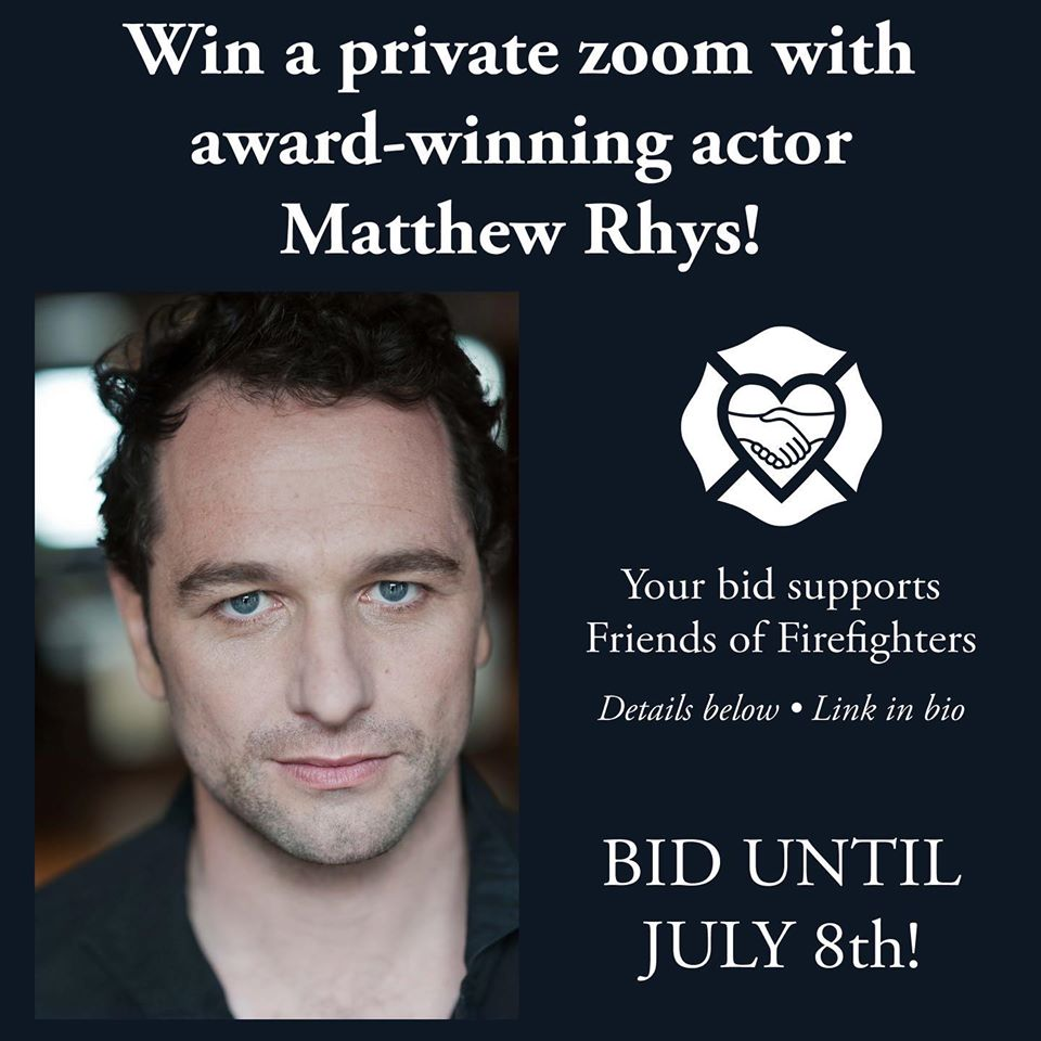 2 DAYS LEFT! Bid to win a private zoom with @TheAmericansFX @MatthewRhys, currently starring in @PerryMasonHBO. All proceeds benefit our mission to continue providing free counseling and wellness services to active & retired @FDNY and their families. bit.ly/31Q31KI