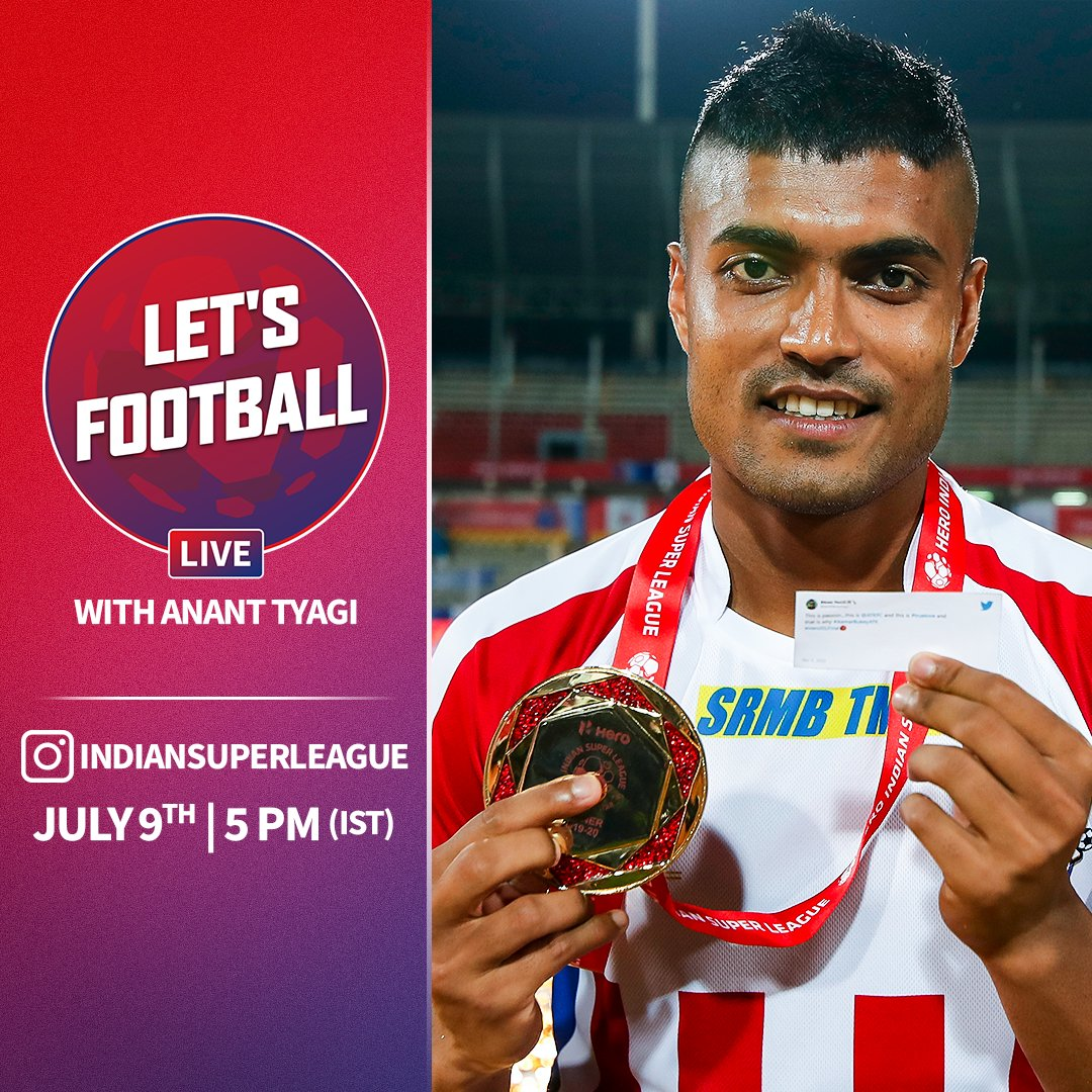 2️⃣-time #HeroISL winner @KotalPritam will be @AnanTyagi_s next big guest on #LetsFootballLive 💪 Send in your questions for the @ATKFC and @IndianFootball star 👇 #HeroISL