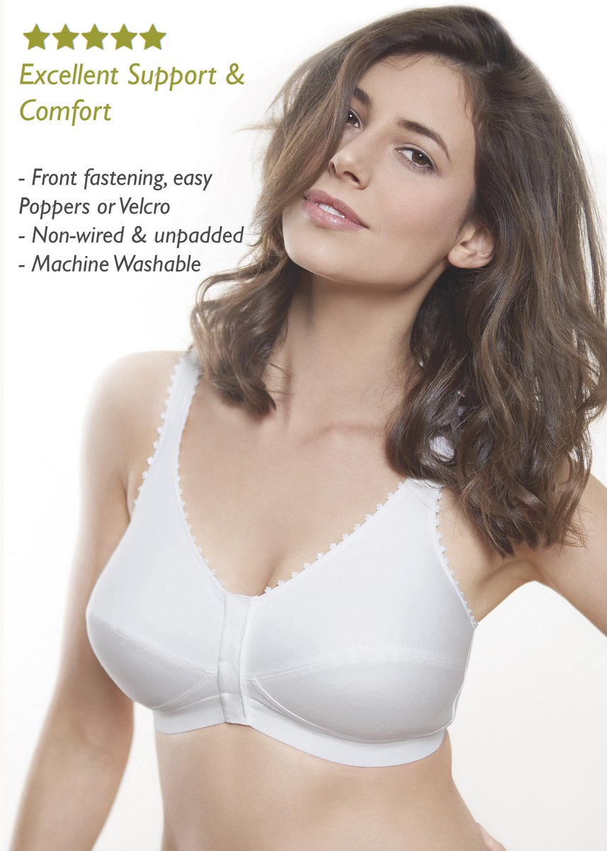 """Lovely customer reviews... """"I am about to undergo a lengthy bout of radiotherapy. This bra fits the bill perfectly, it is absolutely ideal. Five stars, thank you so much.""""  Shop our adaptive Comfi Bra > https://bit.ly/2Ayp11A #adaptiveclothing #occupationaltherapy #comfortablepic.twitter.com/p9O1jottho"""