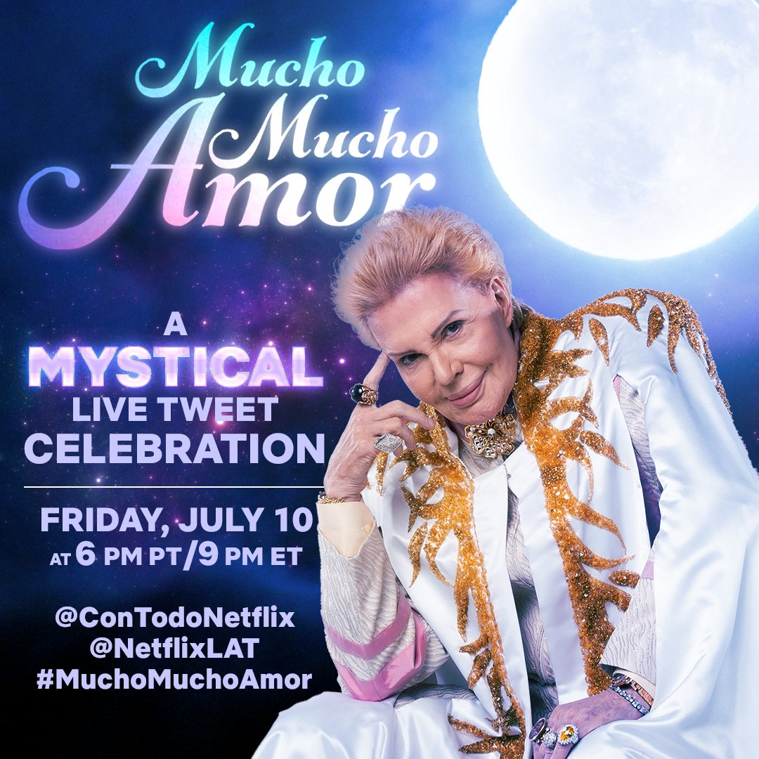 bring out your most opulent cape, and let's fill the TL with mucha paz, pero sobre todo #MuchoMuchoAmor this Friday at 6pm PT/9pm ET 💜