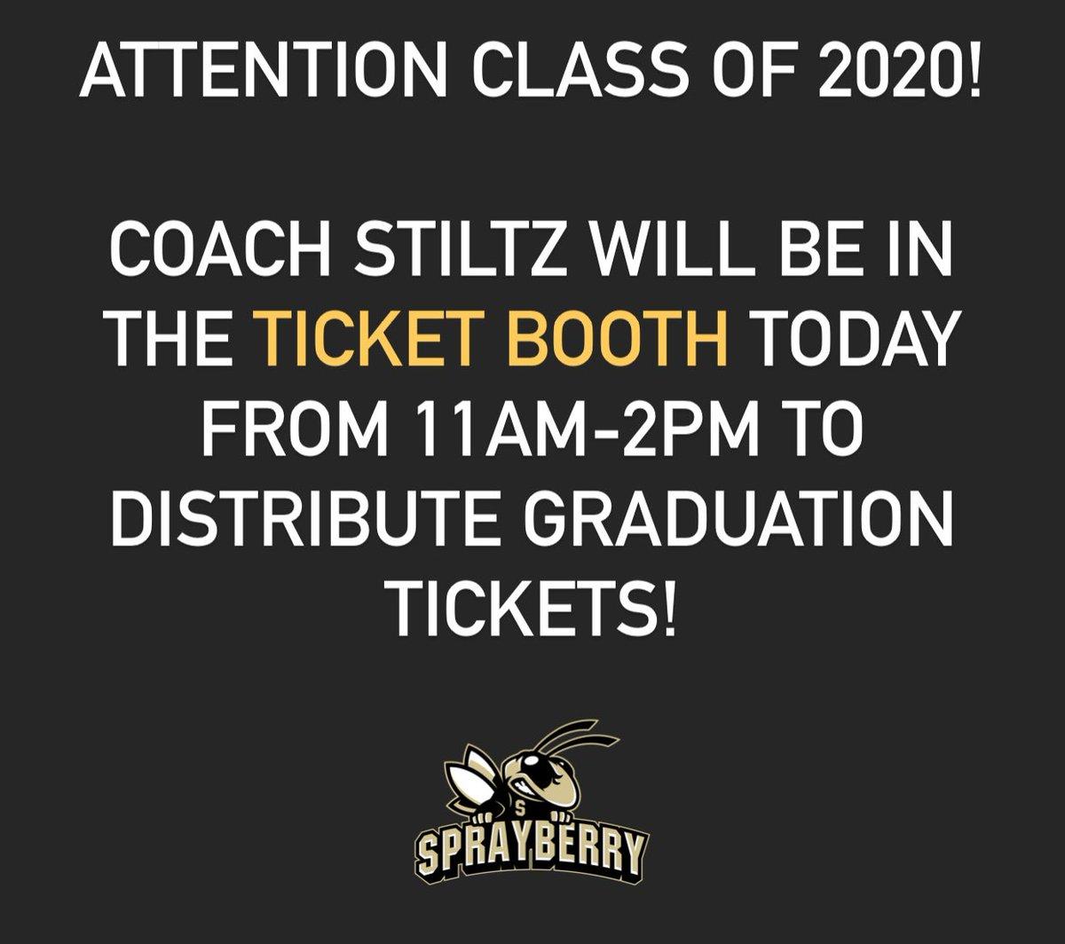Graduation ticket distribution begins today! #shspositiveposting #wearesprayberry