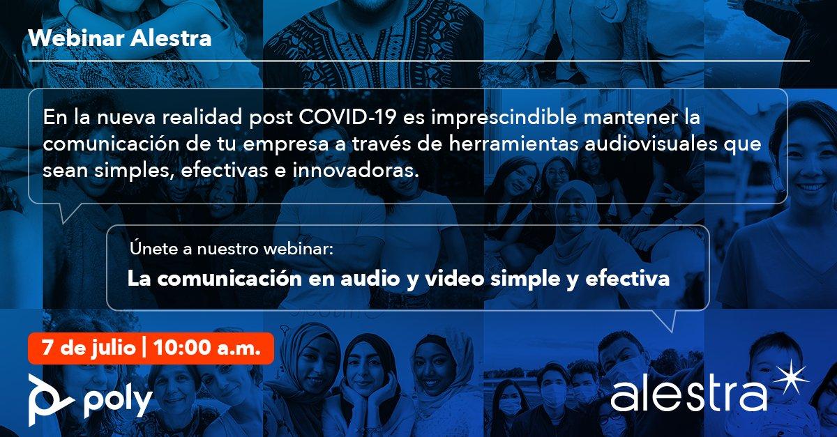 Este 7 de julio, descubre la comunicación a distancia simplificada en herramientas audiovisuales efectivas y accesibles. Conócela en nuestro #WebinarAlestra con @PolyCompany   Regístrate en https://t.co/yCYyfejfYx https://t.co/O53iQaYK8J