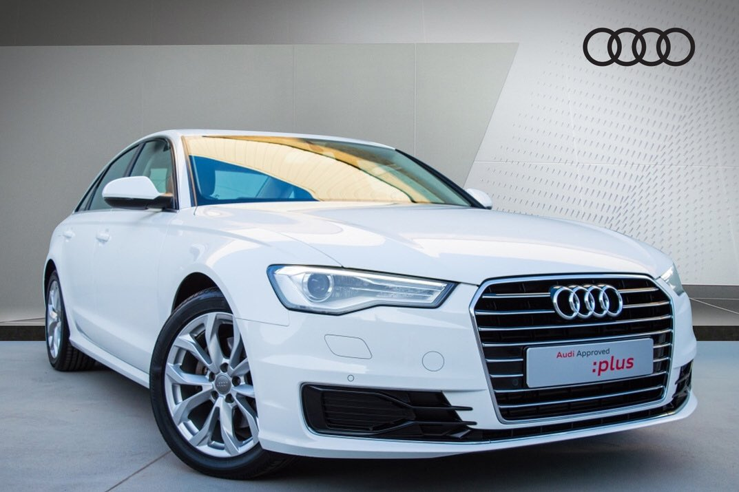 """#AudiApprovedPlus  Model: #AudiA6 35 TFSI – 190 HP Year: 2016 Mileage: 13,169 KM Exterior Colour: Ibis White Interior Colour: Beige Wheel Size: 18"""" Price: KD 11,500  For more information, kindly visit our showroom or call us on 1811118.  #Kuwait #Audi #AudiKuwait #AudiMiddleEastpic.twitter.com/L5NIflDA14"""
