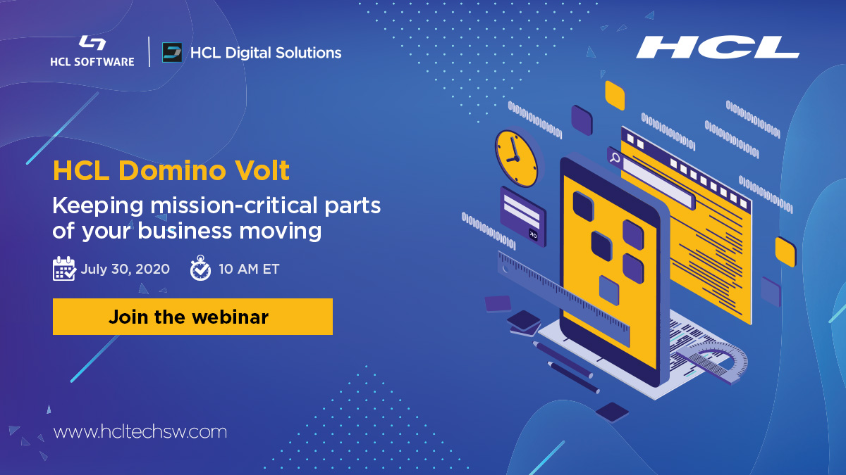 Accelerating your #digitaltransformation! #HCLDomino #HCLVolt HVLSoftware https://t.co/dg9mPPjAzS
