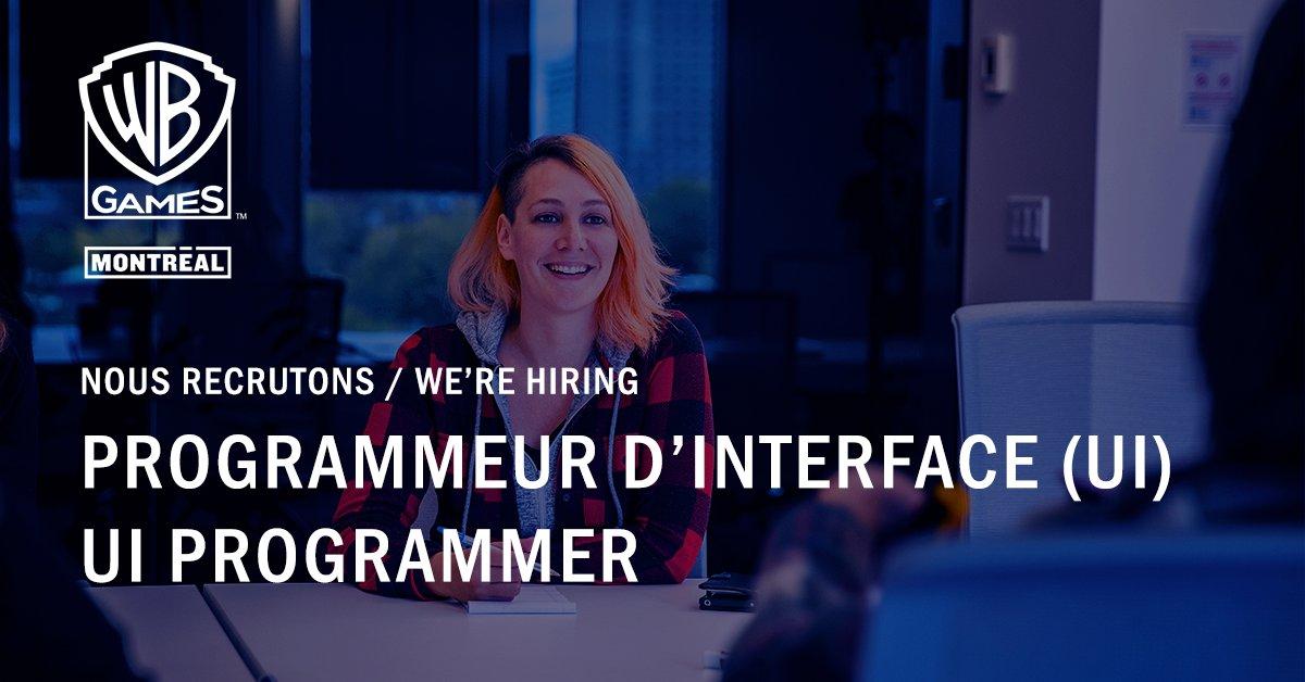 Hot Job de la semaine : Programmeur.euse d'interface (UI) 🔥  Rejoignez-nous ! : https://t.co/i86fkvQSNo   💼  Weekly Hot Job : UI Programmer 🔥  Join us! : https://t.co/i86fkvQSNo https://t.co/6b1gadjUBl
