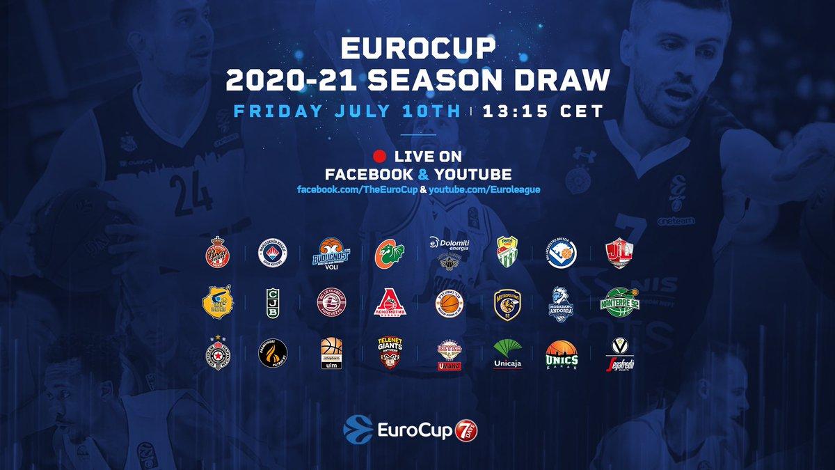 ⏰ Bu sezon ilk kez katılacağımız @EuroCup kura çekimi 10 Temmuz Cuma günü TSİ 14.15'te gerçekleştirilecek. 💻 Beşinci torbadan katılacağımız kurayı 7Days EuroCup'ın Youtube ve Facebook kanallarından izleyebilirsiniz. 👀 #EuroCupDraw https://t.co/dixOZRTAzp
