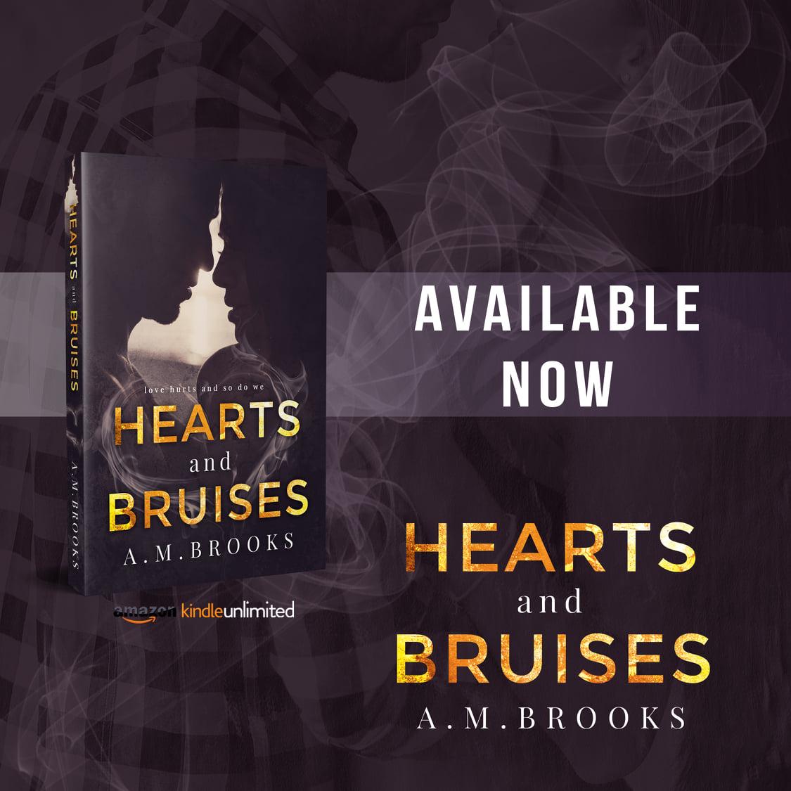Looking for your next read?  Hearts and Bruises by @brooksauthor #HeartsandBruises #AMBrooks #KINGdom #WelcomeToAraminta #DarkVibes #NewAdultRomance #AMBrooks #Buy  http://books2read.com/heartsandbruises…pic.twitter.com/ARmodys0XY