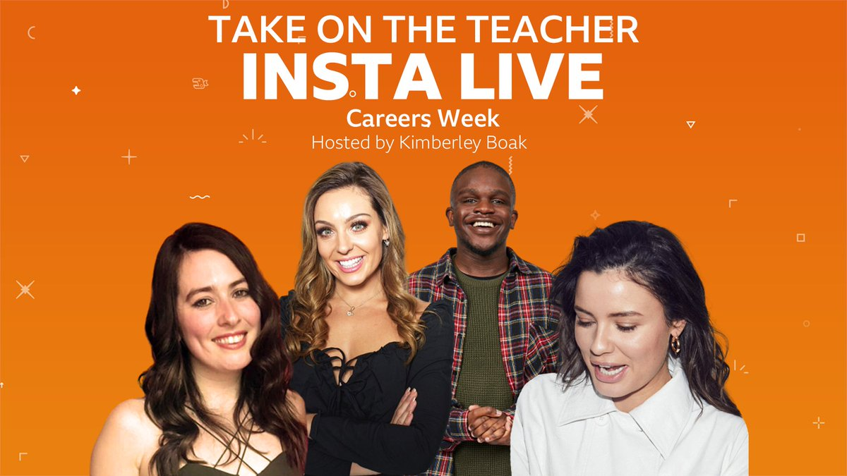 Want to be a radio presenter on @CapitalOfficial like @sarahstorytweet? 📻  Or a dancer on @bbcstrictly like @dowden_amy? 💃  Or even a @CBBC Newsround presenter like @DGMensah? 🎙  Join us on Instagram at 10.30am Thursday 9 July for Careers Week on Take on the Teacher! https://t.co/qRIrXca4XP