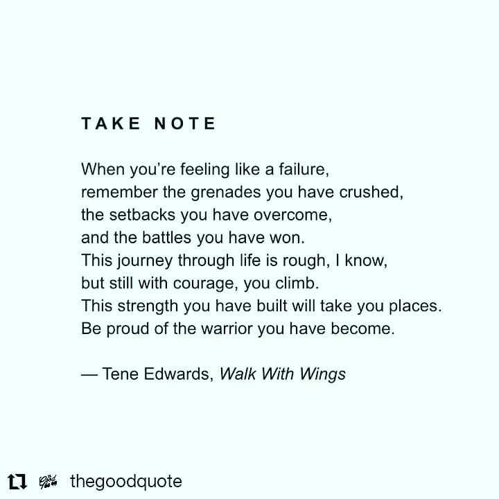 #Repost @thegoodquote • • • • • • Struggling to find self-love? @walkwithwingsbook can help you to cultivate a more supportive and loving relationship with yourself. Follow @teneedwards to own your copy now. https://instagr.am/p/CCTdVsMjYx8/ pic.twitter.com/yypoS3Yma8