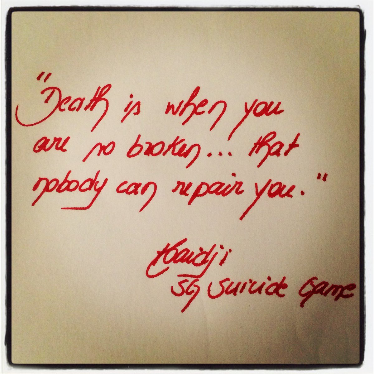 """Book Quote: """"Death is when you are so broken..."""" Click on  https://haidji.blogspot.com/2020/07/book-quote-death-is-when-you-are-so.html?spref=tw… #broken #life #death #quoteoftheday #dailyquote #reading #books #haidji #kindleunlimited #bookquotes #bookquote #goodreads #readers #readinglist #amazon #amazonbooks #bookpic.twitter.com/oVdA58Ppvf"""