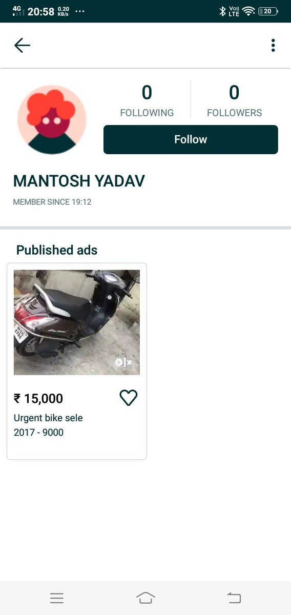 Fraud bike seller Be aware Do not give any token amount or don't believe if he said I am in Airportpic.twitter.com/kVdTcsPMvi