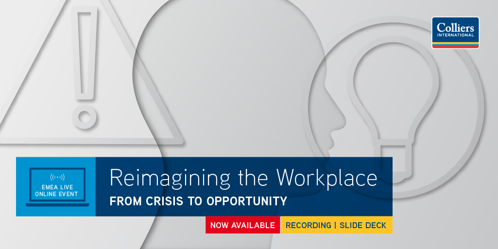 RT @Colliers_EMEA: Thrilled with the huge interest in our #ReimaginingtheWorkplace webinar. Now available to view at any time, it gives an in-depth view on the results of our #WorkfromHome experience survey and a discussion on the potential impact of COVID-19 for the office t.co/GtA34lDCAQ