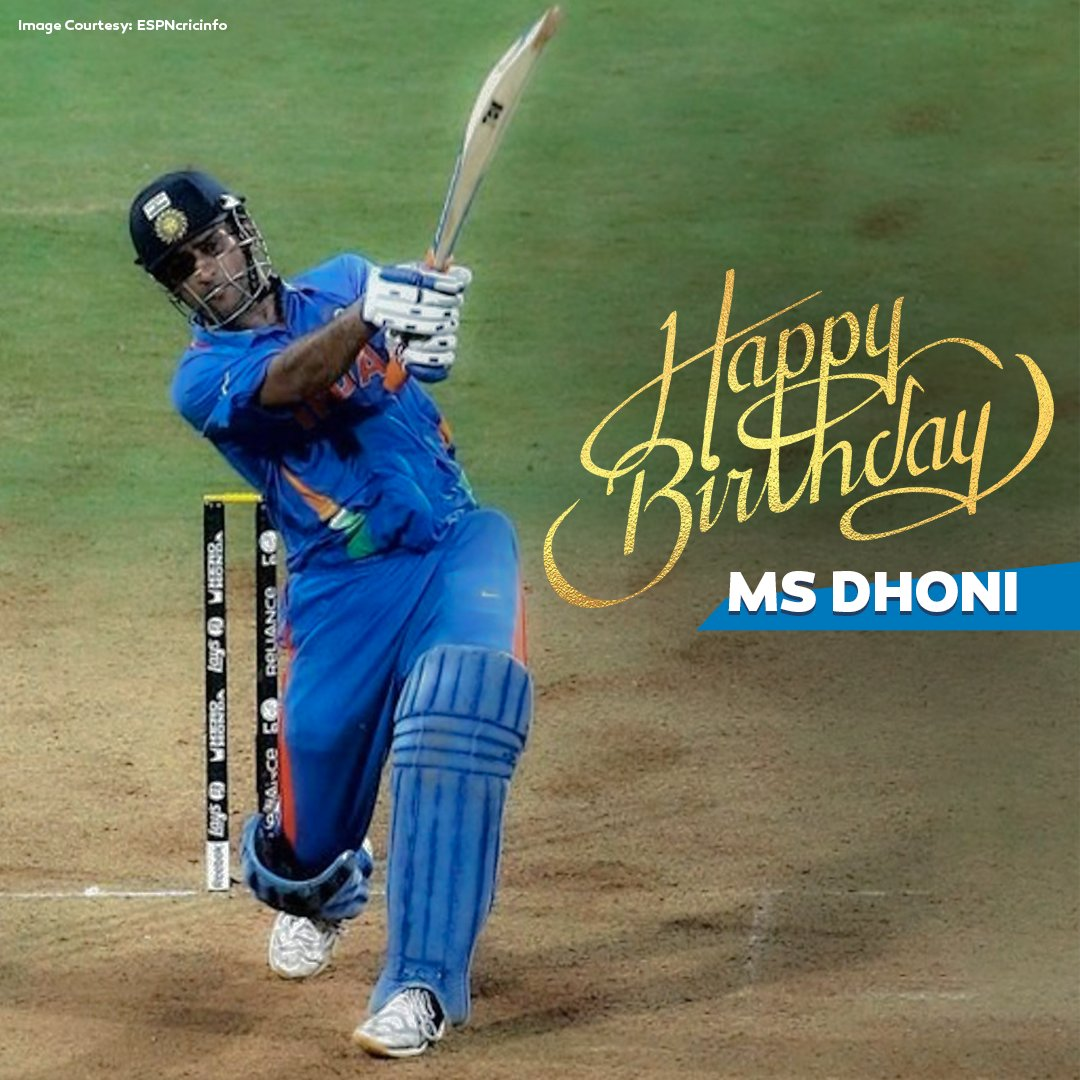 We know this is one of the 3915316 times you'll see this image on your timeline today, but aaj toh banta hai bhai   Here's wishing one of the best to don the #TeamIndia blue, @msdhoni, a very Happy Birthday   #HappyBirthdayDhoni #MSDhoni<br>http://pic.twitter.com/Cmz5p5gVZ1
