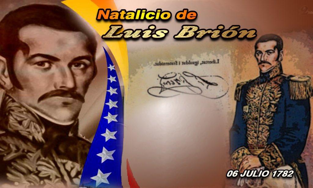 Me uno a la @ArmadaFANB en rendir justo tributo al Alm. Luis Brión a 238 años de su natalicio. La expedición de los Cayos, la Batalla de Los Frailes, fueron testigos del arrojo de los marinos venezolanos comandados por el intrépido Almirante y nuestro Libertador. ¡HONOR Y GLORIA! https://t.co/nIHC7hgeTw