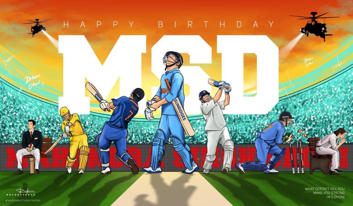 #MSDhoni  #Happy birthday MSD @msdhonipic.twitter.com/H7TPnb0OXI