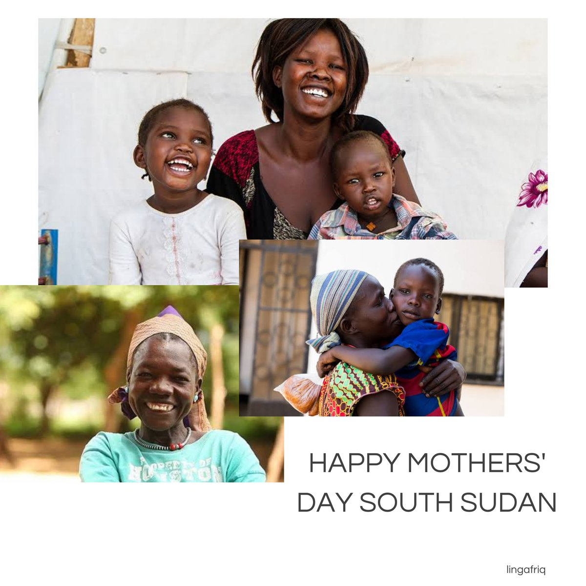 Celebrating Mothers, for laughing with us on the best days and sticking with us on the worst day. Happy Mothers' Day South Sudan! • • • #happymothersday #happymothersday#southsudan #southsudanese #lingafriq #africanow #africa #afriq #southsudanmothersdaypic.twitter.com/FkZBelSqIC